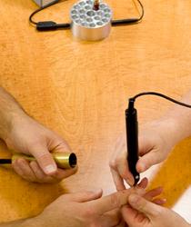 Mesologie Anwendung an den Fingern nahe München
